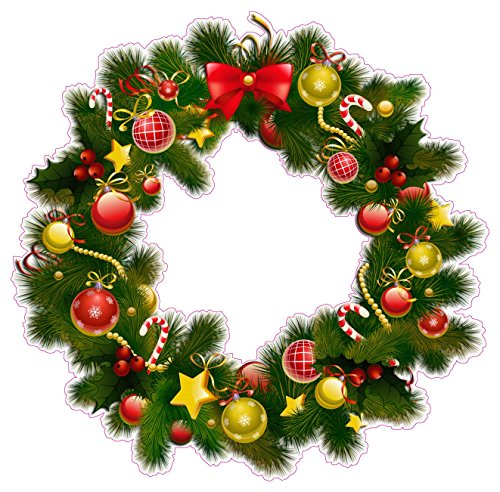 (Nostalgia Decals Christmas Wreath Version 2 Wall Decor Decal Large 24