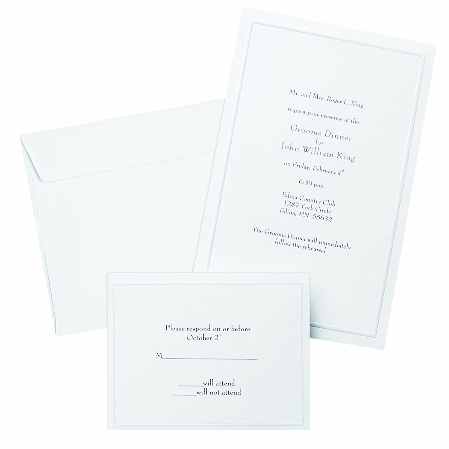 Amazon gartner studios border wedding invitation kit pearl amazon gartner studios border wedding invitation kit pearl white 50 count 61001 party invitations office products pronofoot35fo Choice Image