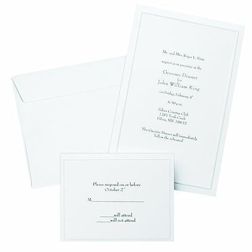 Printing Wedding Invitations At Staples: Wedding Invitation Kits Do It Yourself: Amazon.com