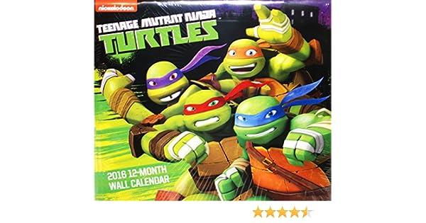 Teenage Mutant Ninja Turtles 2016 12 Month Wall Calendar