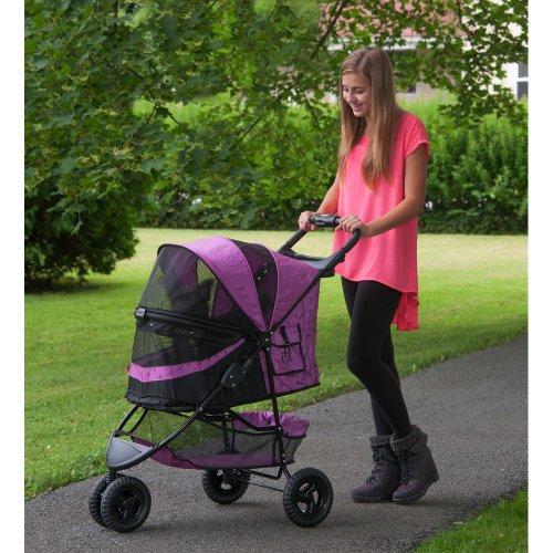 Pet-Gear-No-Zip-Special-Edition-Pet-Stroller-Zipperless-Entry-Orchid