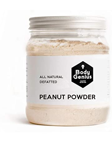 BODY GENIUS Powdered Peanut Butter. Defatted. No Added Sugar. Cacahuete en Polvo Desgrasado