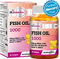 StBotanica Fish Oil 1000 mg (Double Strength) with 550 mg Om