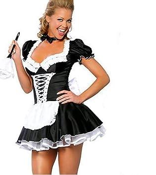 35557bbff559 Schwarz Sexy Kostüm, Magd Rollenspiel, Kostümparty, Party Verkleiden Sich  Kostüm, Damen Große Größe Kleid,XXXL