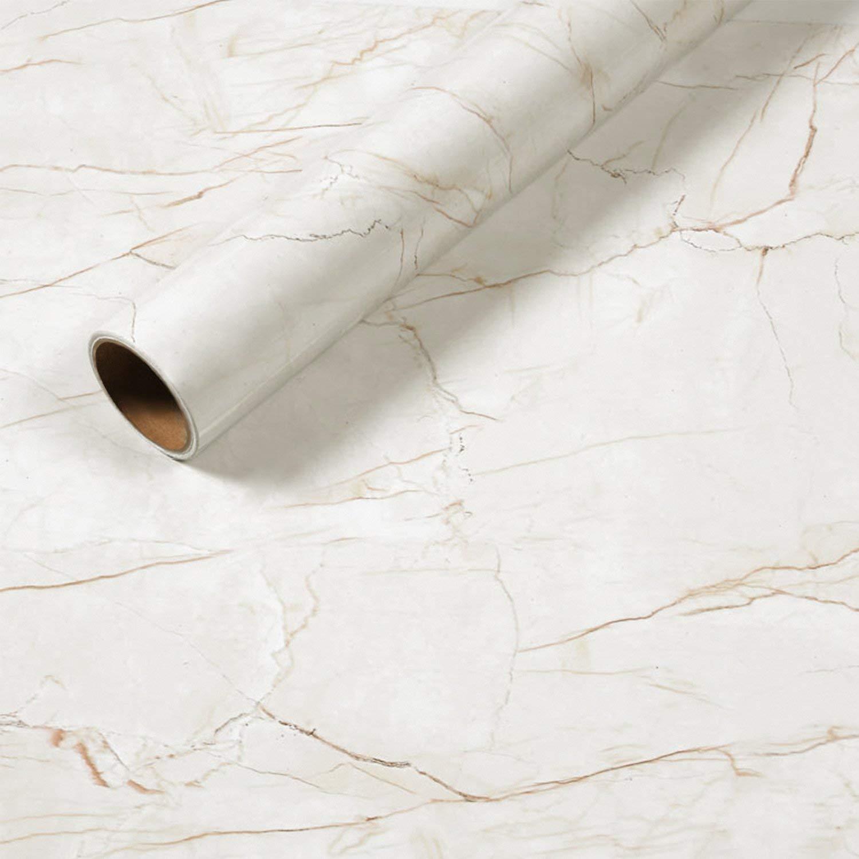 rabbitgoo/® Papier Peint Auto-adh/ésif de Motif Marbre Granite Brun Sticker Autocollant D/écoratif pour Meuble de Cuisine Salon Bureau Imperm/éable et /Étanche /à lhuile Vinyle Dimension 44.5 CM 200 CM
