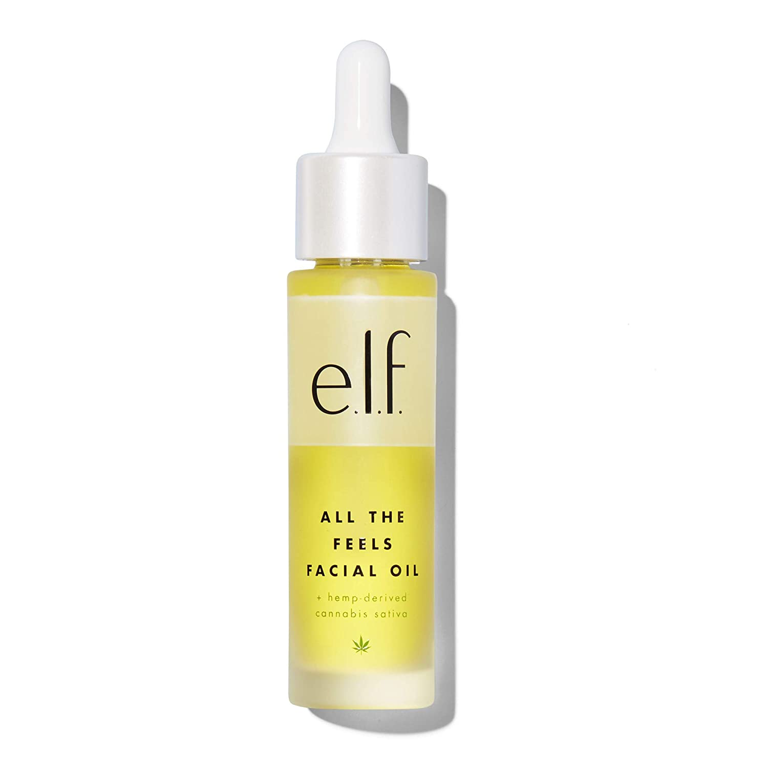 e.l.f. All the Feels Facial Oil Infused with Hemp-derived Cannabis Sativa Seed Oil and Rosehip Seed Oil 1fl oz