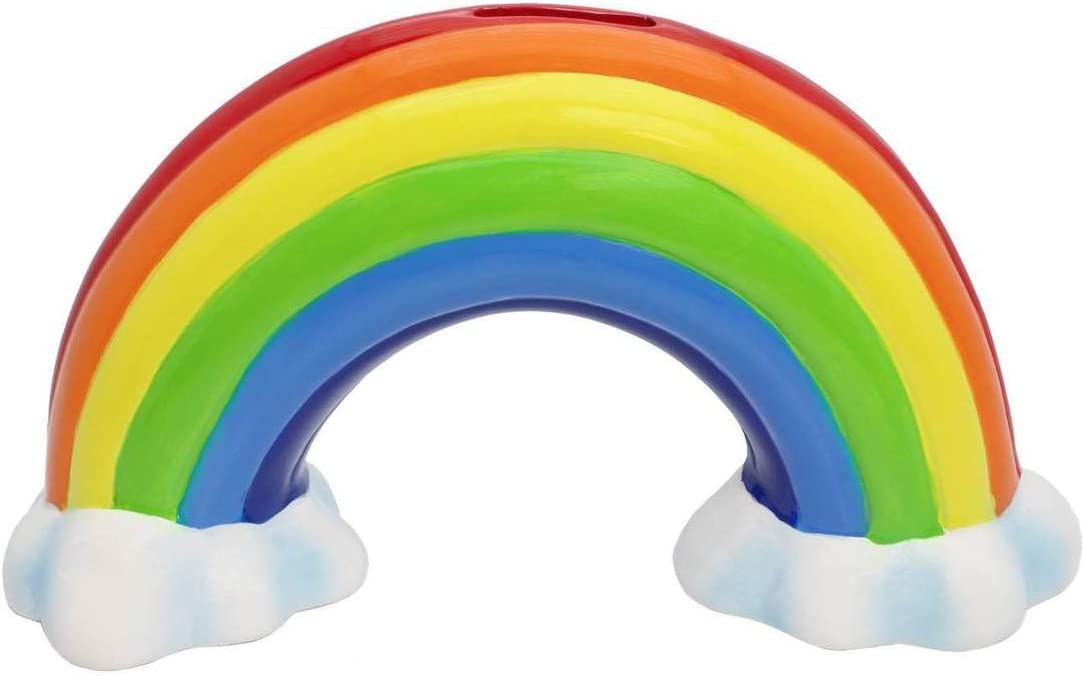 Streamline Ceramic Rainbow Money Bank