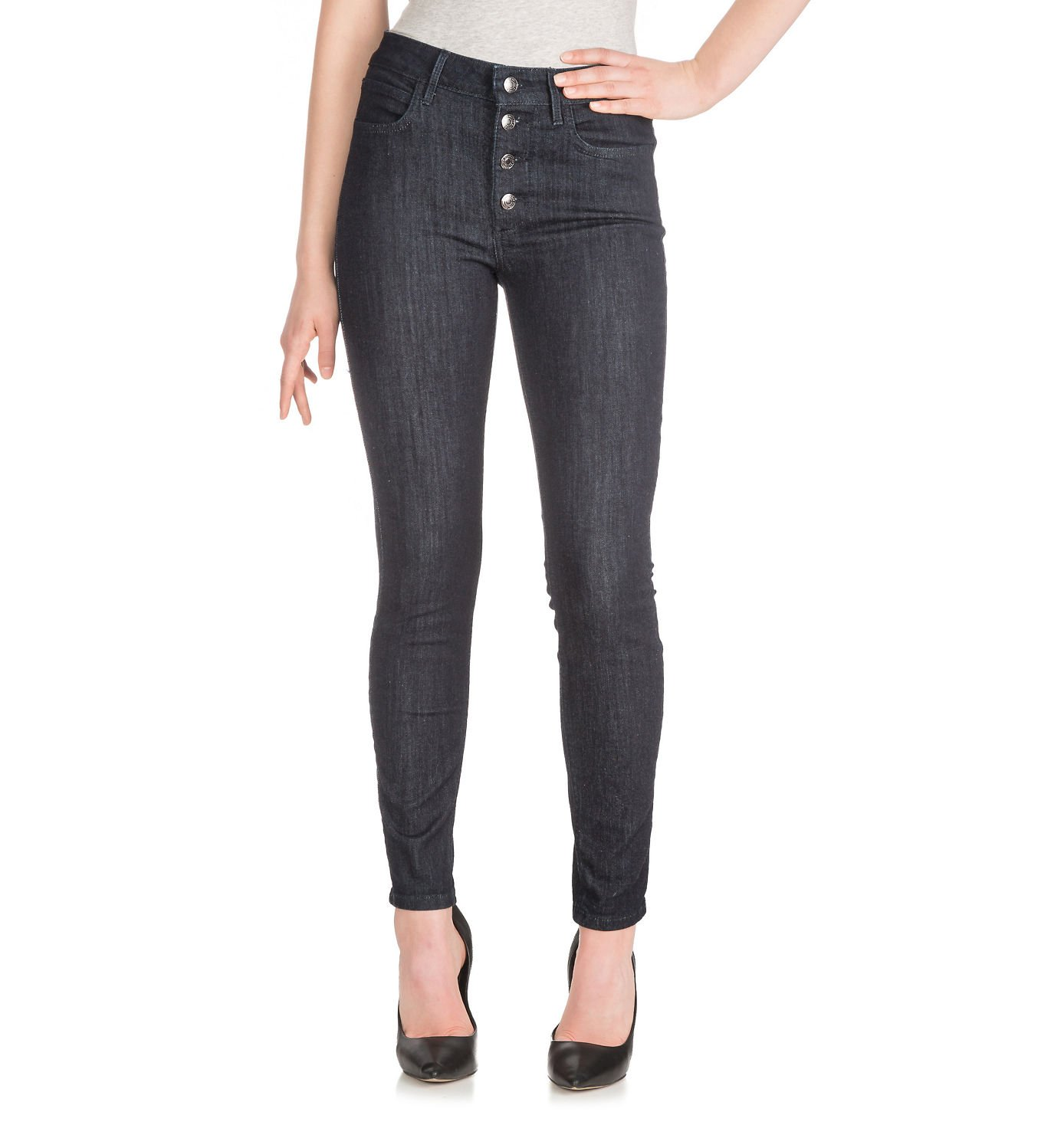 Guess Women's 1981 Button-Front Rinse Wash Skinny Jeans (Rinse, 30) by GUESS