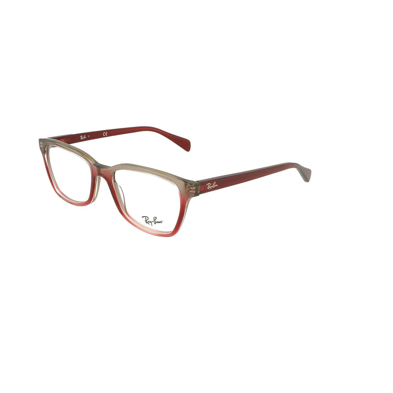 dd718314f45 Amazon.com  Ray-Ban RX5362-5835 Eyeglasses TRI BORDEAUX GREY PINK 52mm   Clothing