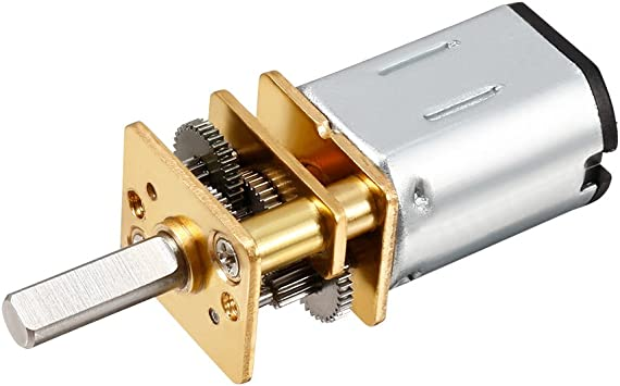 1x New N20 DC3V 6V 12V Micro Speed Reduction Gear Motor with Metal Gearbox Wheel