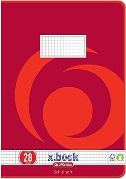 Herlitz 3322807 28 - Lote de libretas cuadriculadas (10 unidades, A4, con margen en ambos lados, 16 hojas, 8 modelos diferentes): Amazon.es: Oficina y papelería
