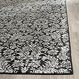 Safavieh VTG437P-8 Vintage Collection Traditional Floral Damask Black & Light Grey Area Rug, 8' x 11'