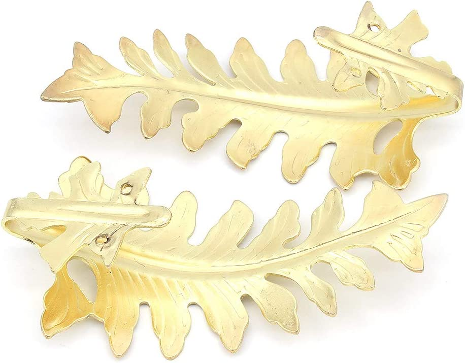 Gold MoYouno 1 Paio di fermaporta per Tende Retro per Tenda Decorativo retr/ò Cravatta per Tenda Grande con Disegno Foglia Vintage