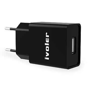 iVoler Mini Cargador (5W/1A) y Carga Datos Cable USB (1m ...