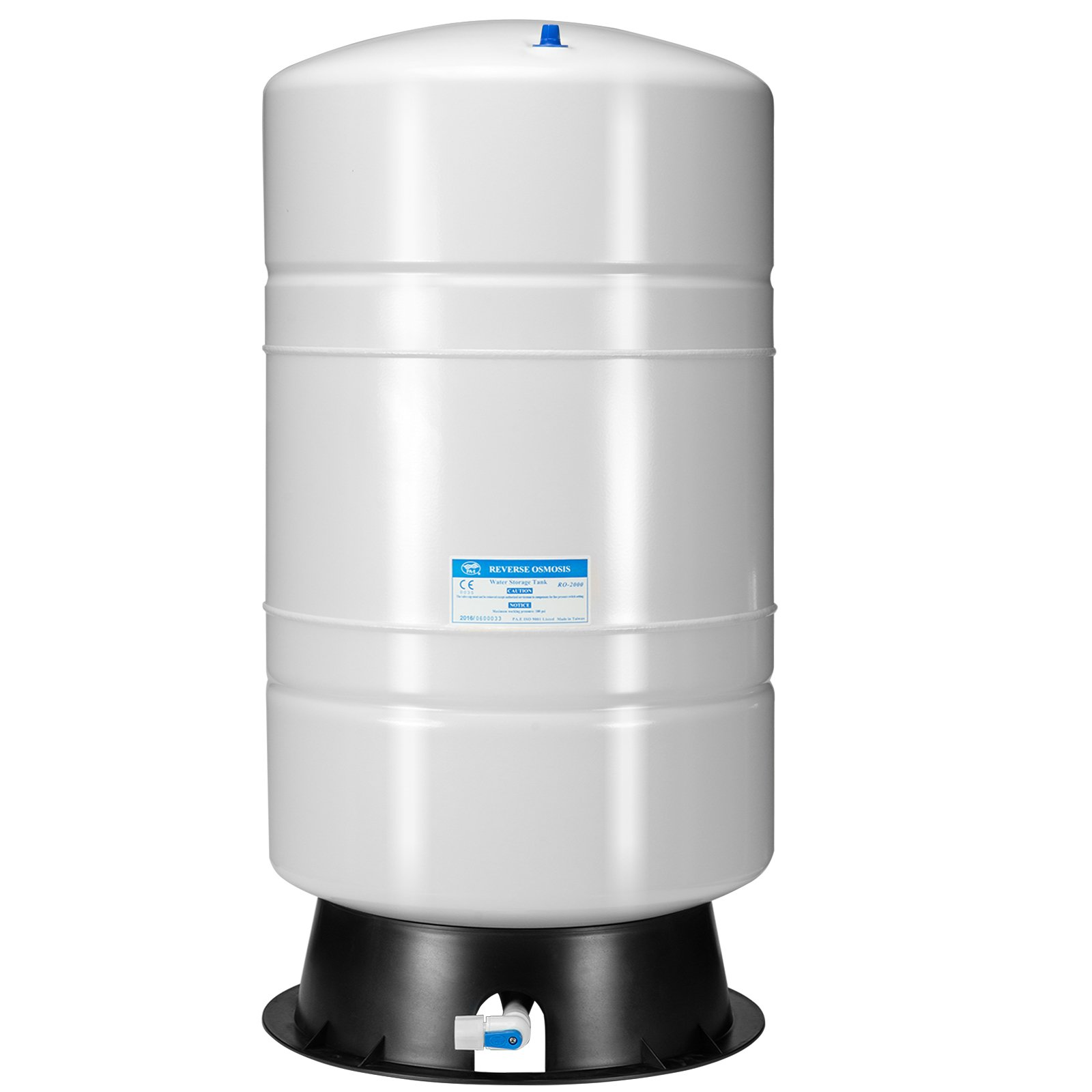 iSpring T20M 20 Gallon Water Storage Tank for Well and Reverse Osmosis RO with 14 Gallon Capacity, White by iSpring