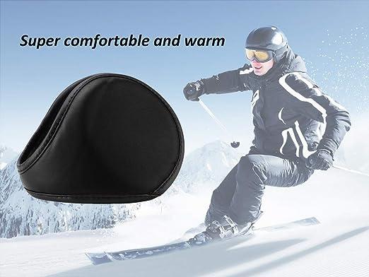 f/ür Damen JSY Ohrensch/ützer f/ür den Winter Naturfaser mit Fell a s/ü/ßes kleines Ohrenw/ärmer warm Free Size faltbar