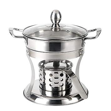 Solo pequeña estufa de alcohol de olla caliente 304 acero ...