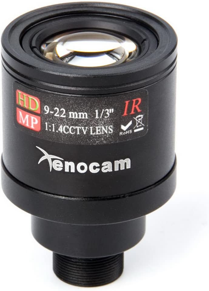 Xenocam 9-22mm 1//3 IR F1.4 CCTV Video Vari-Focal Zoom Lens for CCTV Security Camera
