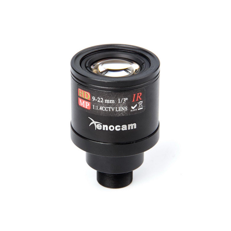 Xenocam 9-22mm 1/3' IR F1.4 CCTV Video Vari-Focal Zoom Lens for CCTV Security Camera XC0922LENS