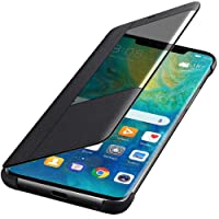 Huawei Mate 20 Case, Windcase Slim Leather Smart View Flip Case Cover for Huawei Mate 20 Black