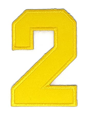 Amazon 2 X 3 Inches Yellow The Second Numbers Patch Sew Iron On