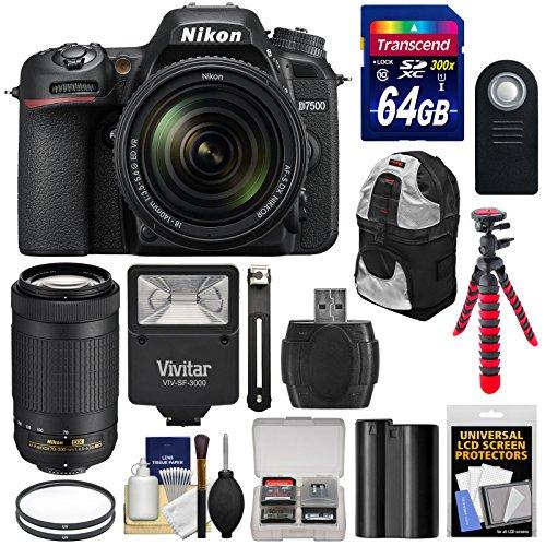 nikon-d7500-wi-fi-4k-digital-slr-camera-with-18-140mm-vr-70-300mm-dx-af-p-lens-64gb-battery-backpack