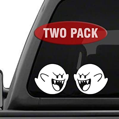 Signage Cafe Boo Super Mario Brothers - Two Pack - Vinyl Decals for car, Truck, JDM, Laptop: Automotive