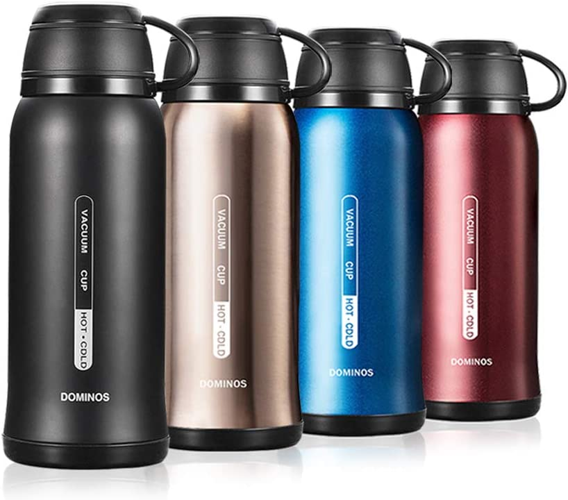 Y·J&H Termo de Vacío de Doble Pared,Botella de Agua Acero Inoxidable sin BPA,Botellas Frío/Caliente,Botellas Termica para Niños, Colegio, Oficina, Trekking - 650ml Negro