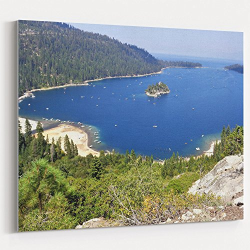 Wall Inlet Frame - Westlake Art Coast Water - 5x7 Canvas Print Wall Art - Canvas Stretched Gallery Wrap Modern Picture Photography Artwork - Ready to Hang 5x7 Inch