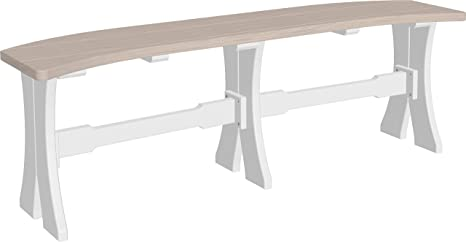 Wondrous Amazon Com Luxcraft 52 Backless Poly Table Curved Bench Caraccident5 Cool Chair Designs And Ideas Caraccident5Info