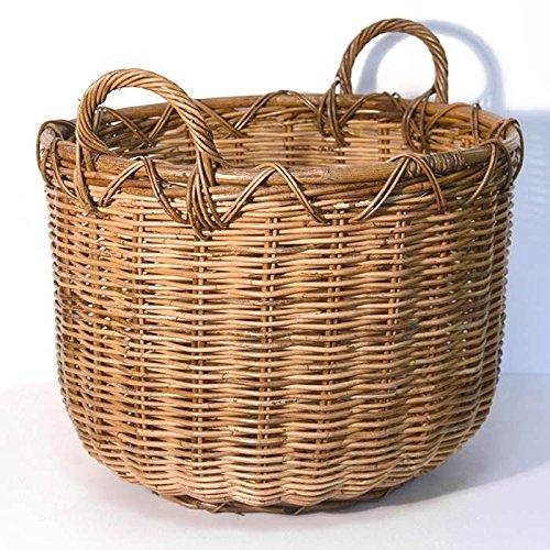 Fireside Tub Log Basket Brown Large Round Wicker Rattan Wood Storage Tri Pendawa Corporation