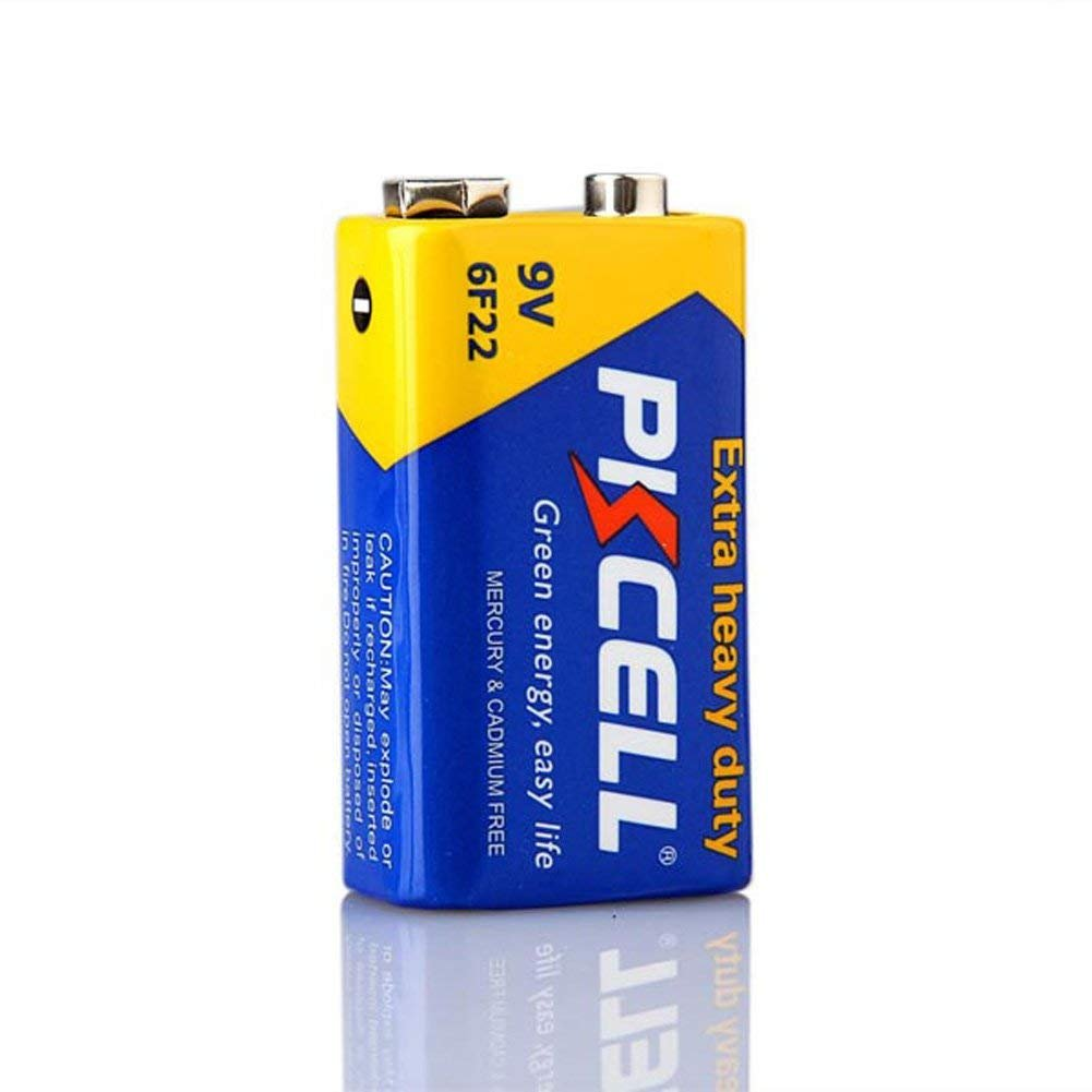 Amazon.com: PKCELL 9V 6F22 Super Heavy Duty Pilas paquete de ...