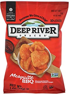product image for Deep River Snacks Mesquite BBQ Kettle Cooked Potato Chips, 1-Ounce (Pack of 80)
