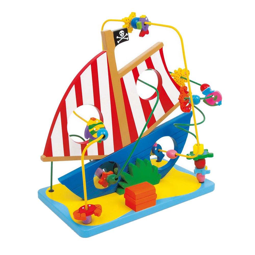 Legler Motor Activity Loop Pirate Ship Preschool Learning Toy