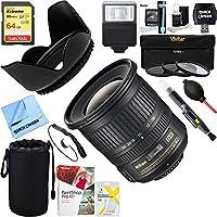 Nikon (2181) AF-S DX NIKKOR 10-24mm f/3.5-4.5G ED Lens + 64GB Ultimate Filter & Flash Photography Bundle