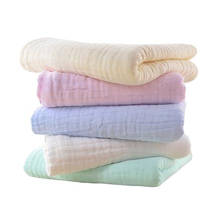 Gosear 5 Piezas Colores Surtidos Súper Suave algodón Kid Toalla de bebé recién Nacida Muselina Cara