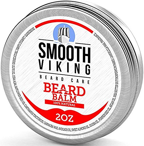 Beard Balm With Shea Butter & Argan Oil - Leave in Wax Conditioner for Men - Styles, Strengthens & Thickens During Beard During Beard Growth