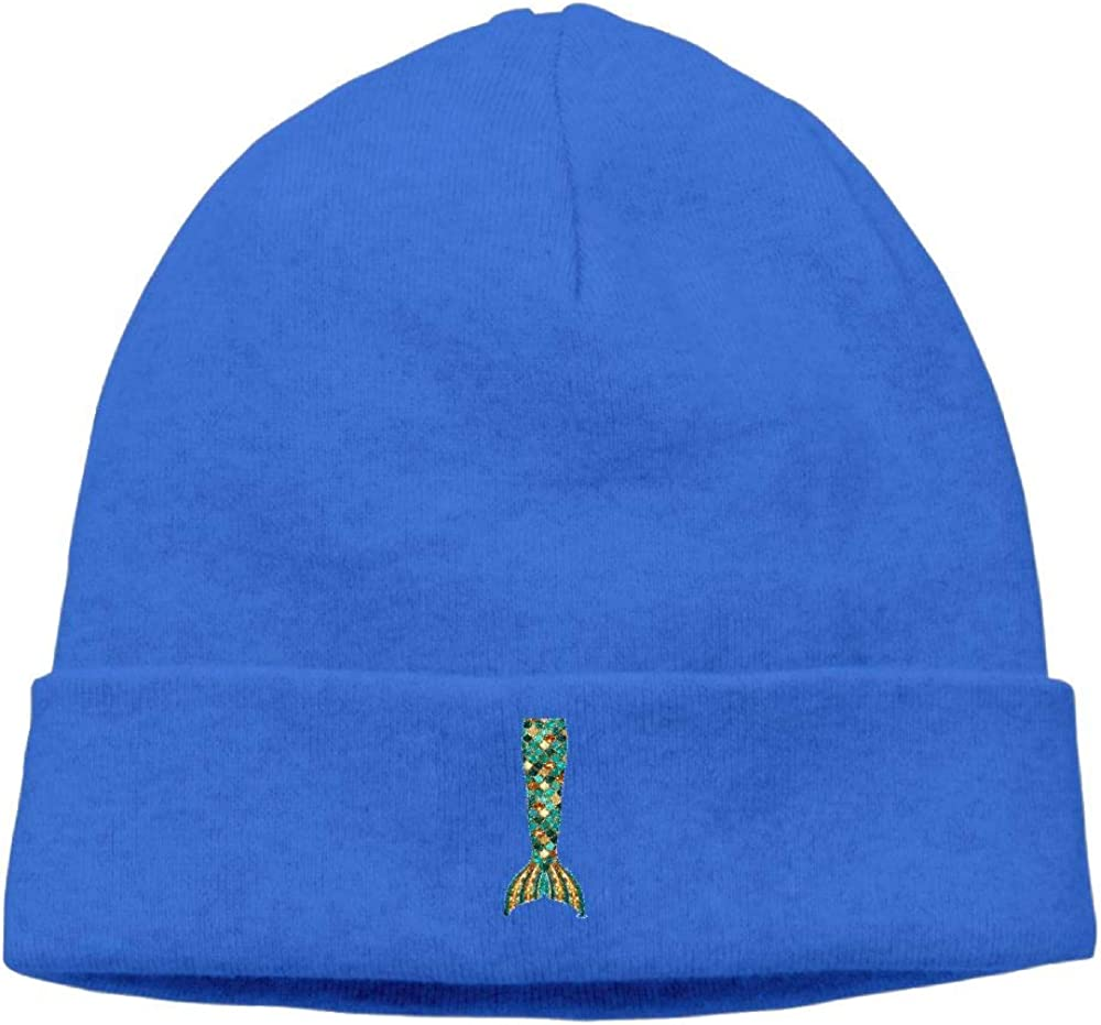 nordic runes Mermaid Tail Beanie Hat Winter Warm Knit Skull Cap for Mens//Womens