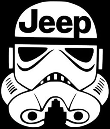 Amazoncom Stormtrooper  Starwars Jeep Decal Vinyl StickerCars - Vinyl stickers on cars