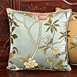 Modern Chinese style pillow Silk-Embroidered cushion pillowcase for sofa and bed PP cotton pillow-B 45x45cm(18x18inch)VersionA