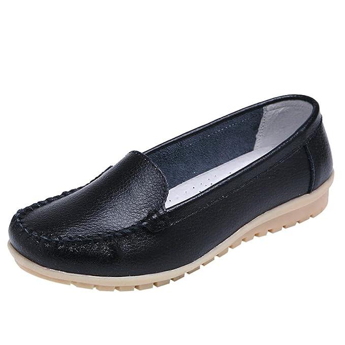 b252ebdda519 DENER Women Ladies Girls Leather Loafers Espadrilles