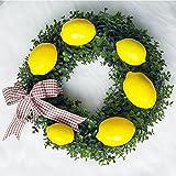 "Supla 12 Pcs Artificial Lemon in Yellow 3.7"" Long x 2.56"" Wide Fake Lemon Foam Lemon Fruit Decor Kitchen Table Decor"