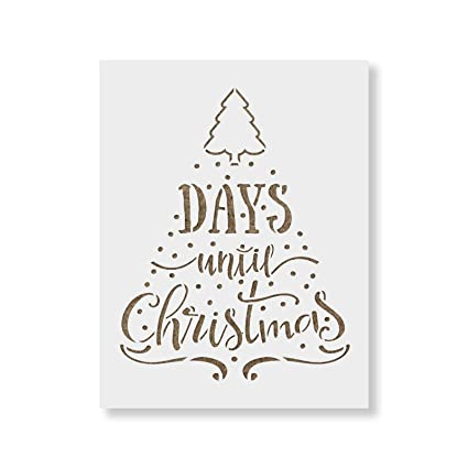 Until Christmas.Amazon Com Days Until Christmas Stencil Template For