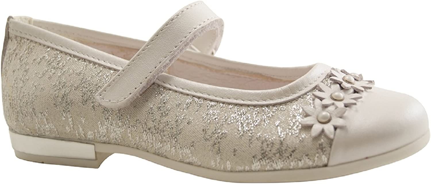 Primigi 1440733 Ballerinas Shoes Girl White Leather Ceremony Made in Italy