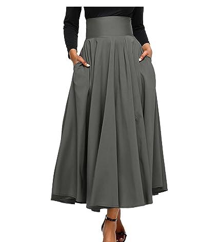 CTOOO Vendimia Señoras De Estilo Victoriano Alta Cintura Retro Falda Para Mujer: Amazon.es: Ropa y accesorios