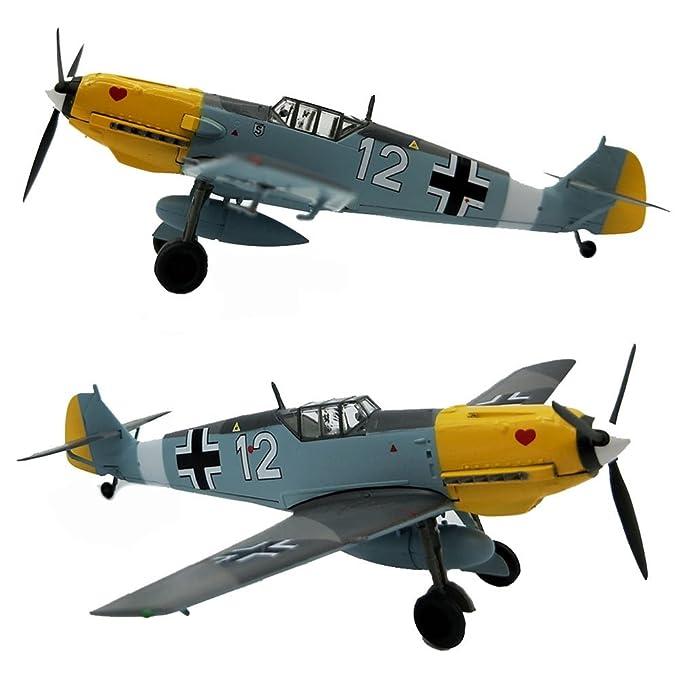 Messerschmitt BF109 Diecast 1: 72Model Kit, Avión De Combate ...