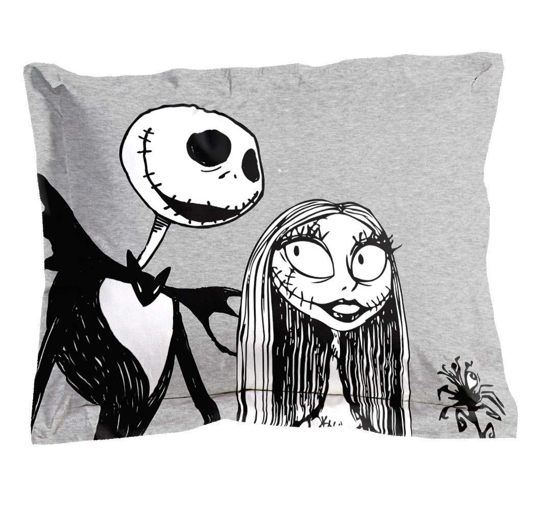 Disney Nightmare Before Christmas Moonlight 7 Piece Full Bed Set Features Jack Skellington and Sally Official Disney Product Includes Reversible Comforter /& Sheet Set Super Soft Microfiber -