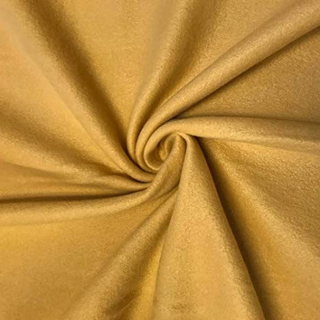 QUALITY Anti Pil Polar Fleece Fabric Material BEIGE BROWN