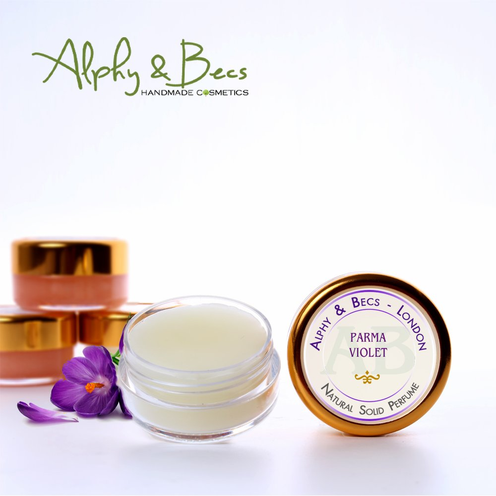 1pc - Natural Solid Perfume for Women - Parma Violet - in a Pot - 10 ml Alphy & Becs