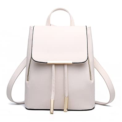 Z-joyee Casual Purse Fashion School Leather Backpack Shoulder Bag ...